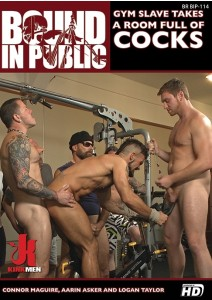 Gym Slave Takes a Room Full of Cocks