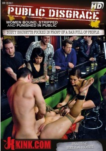 Busty Brunette Fucked in Front of a Bar Full of People